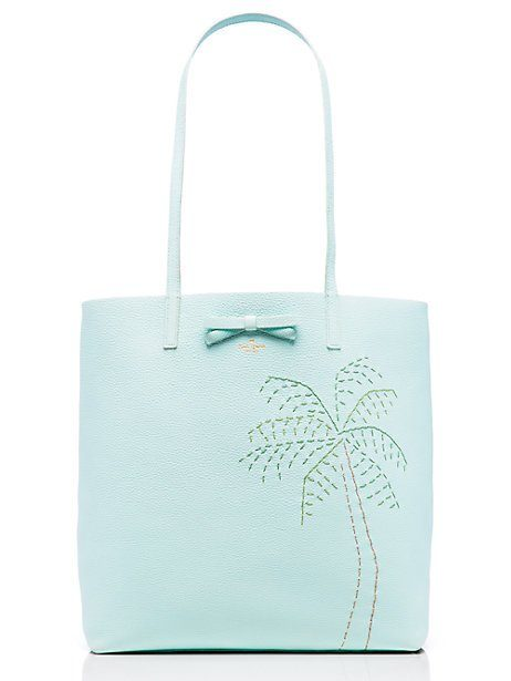 kate spade ny | on purpose leather palm tree tote