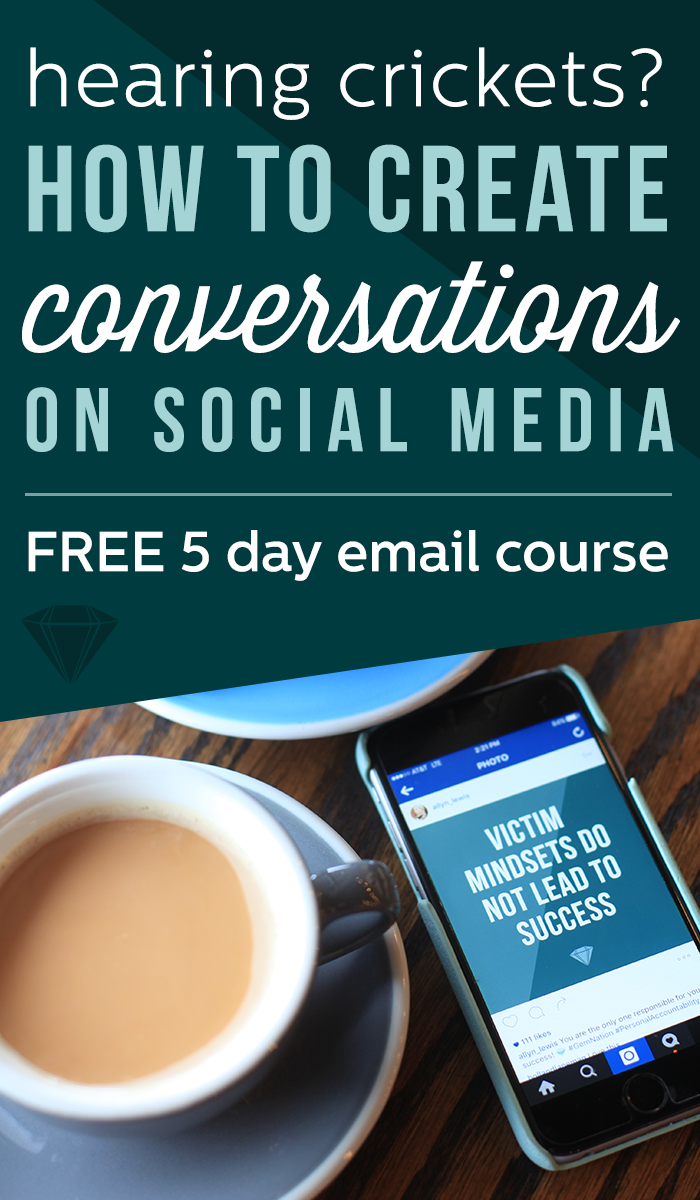 FREE 5 day email course on how to having meaningful conversations on social media