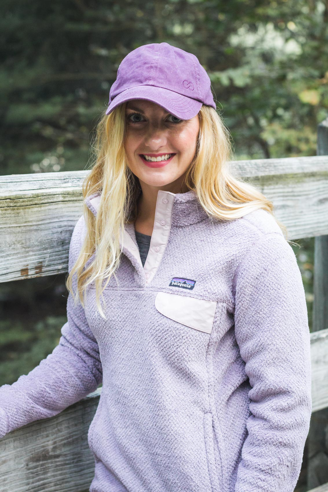It's rare to find a Patagonia pullover sale going on, but it's your lucky day! I add this fuzzy purple Patagonia snap t pullover to my winter outfits all the time!