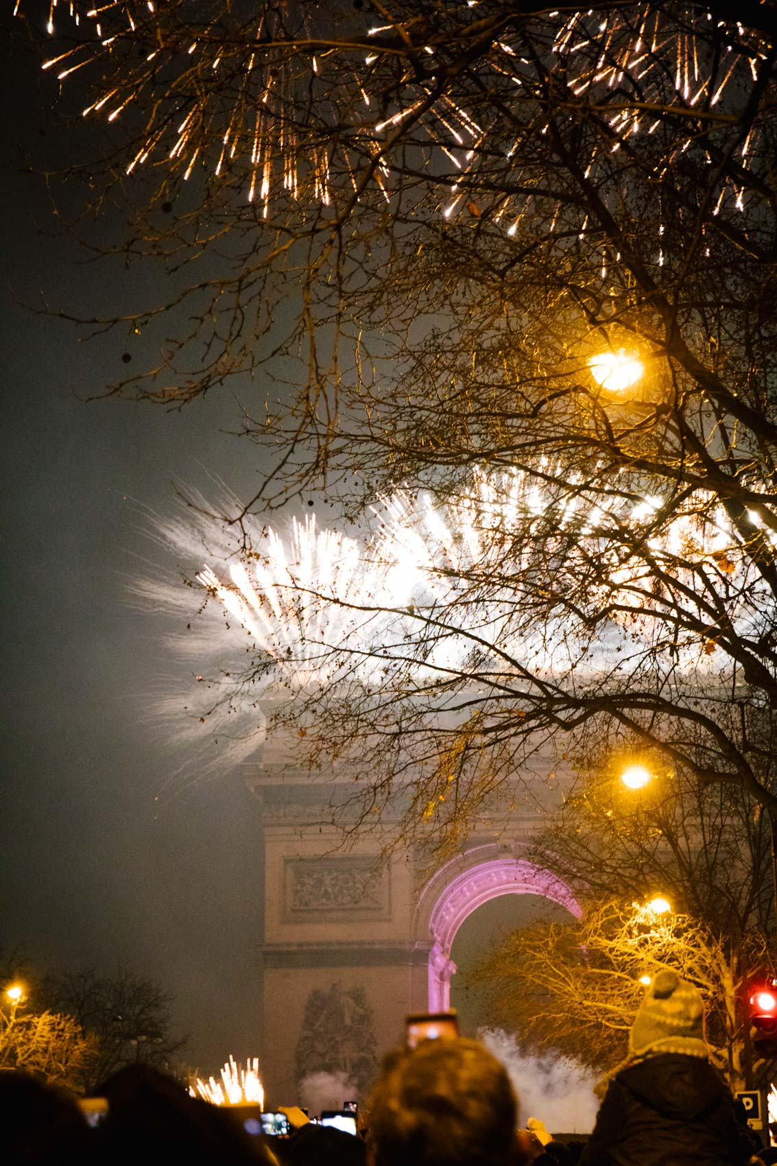 New Years in Paris - Arc de Triomphe Fireworks